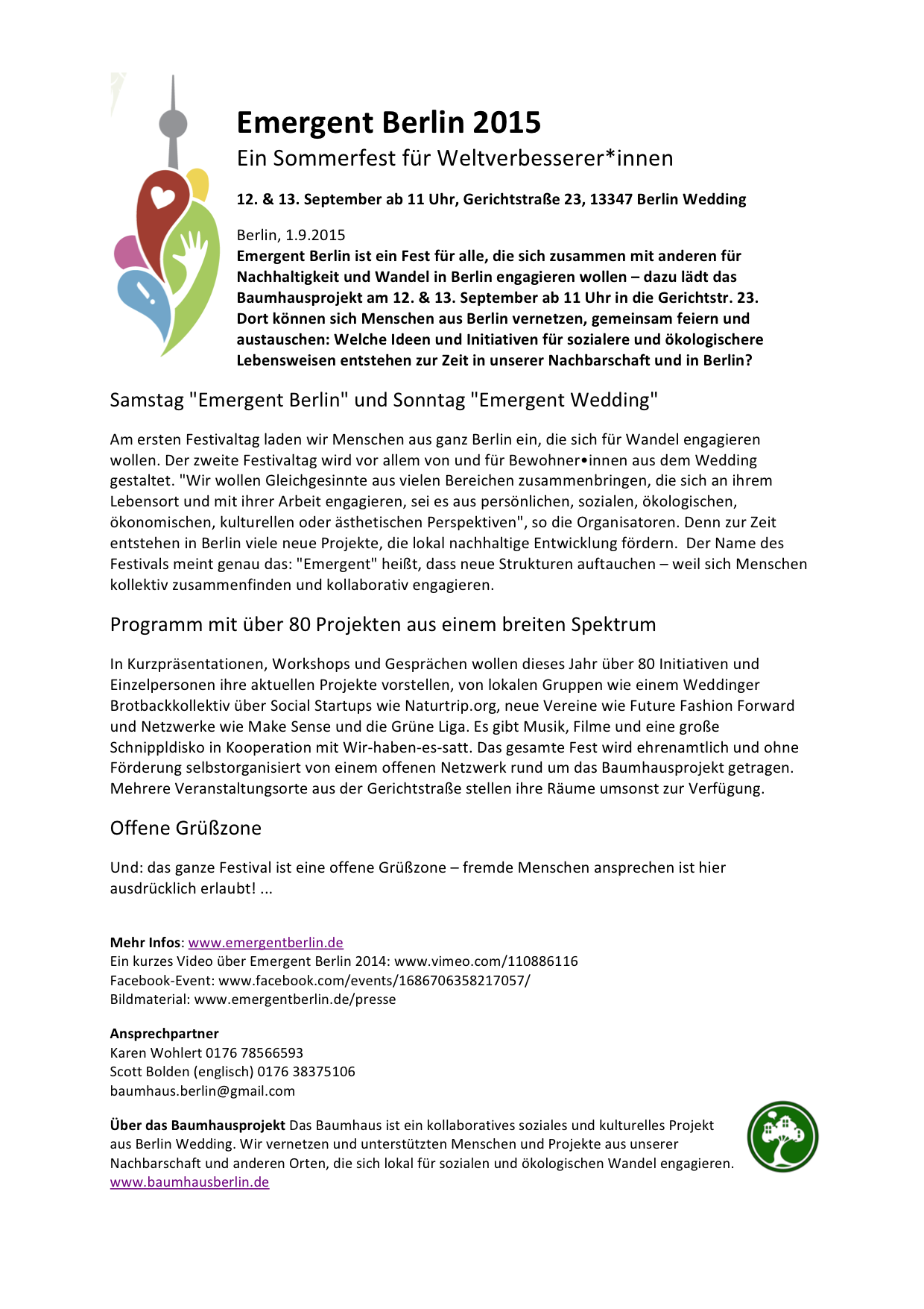 Presse-Info Emergent Berlin 2015